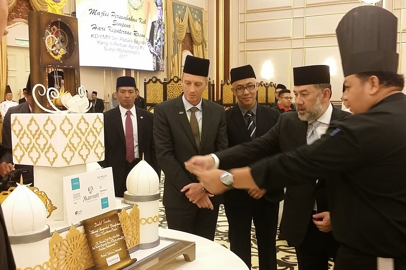 Malaysian Agong's Birthday, cake presentation ceremony