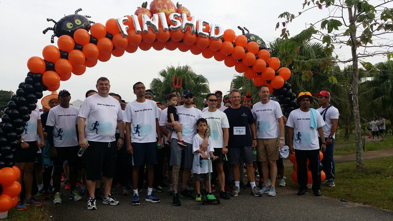 Finishing Line at Run To Give 2016