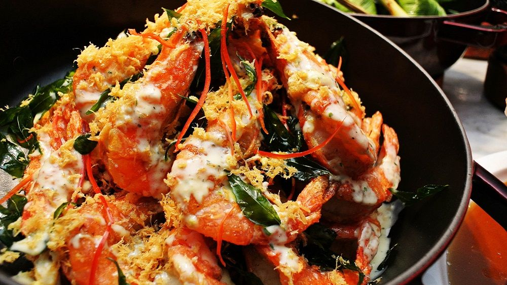 Butter Prawns with Curry Leaves