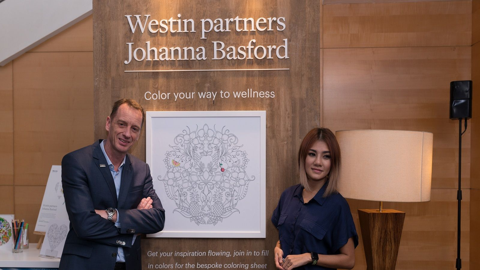 Ms Haze Long and Mr Ko Van Den Hil at Johanna Basford Launching Day, The Westin Kuala Lumpur